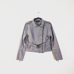 FOREVER 21 Utility Jacket Gray